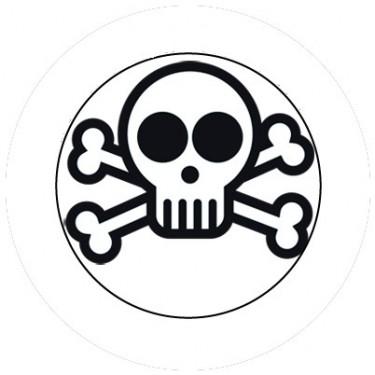 BADGESAGOGO.FR - Badge 25mm Tete de mort 2