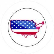 Badge 25mm USA
