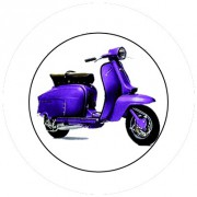 Badge 25mm Vespa violet