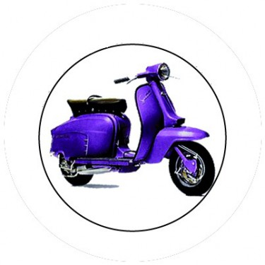 BADGESAGOGO.FR - Badge 25mm Vespa violet