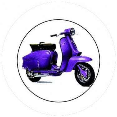 BADGESAGOGO.FR - Badge 25mm Vespa violet