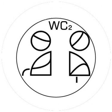 BADGESAGOGO.FR - Badge 25mm WC