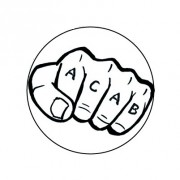 Badge 25mm ACAB tatoo