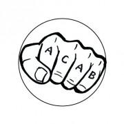 Badge 25mm ACAB tatoo