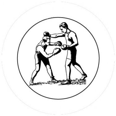 BADGESAGOGO.FR - Badge 25mm Boxe