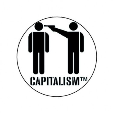 BADGESAGOGO.FR - Badge 25mm Capitalism