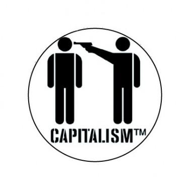 BADGESAGOGO.FR - Badge 25mm Capitalism