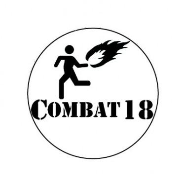 BADGESAGOGO.FR - Badge 25mm Combat 18 molotov