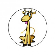 Badge 25mm Girafe