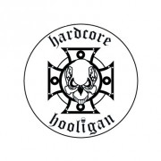 Badge 25mm Hardcore hooligan