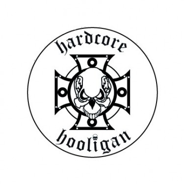 BADGESAGOGO.FR - Badge 25mm Hardcore hooligan