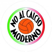 Badge 25mm No al calcio moderno