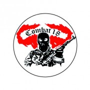 Badge 25mm Soldat combat 18