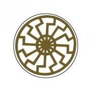 Badge 25mm Soleil noir