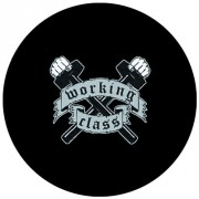 Badge 25mm Working class marteaux