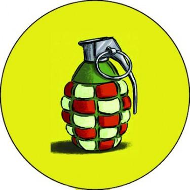 BADGESAGOGO.FR - Badge 25mm Grenade