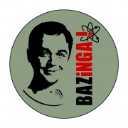 Badge Bazinga 59 mm