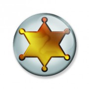 Badge 59 mm etoile de sheriff