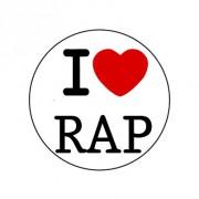 Badge 25mm I LOVE RAP