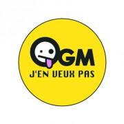 Badge 25mm OGM j'en veux pas