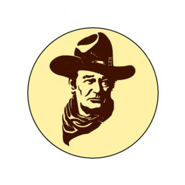 Badge John Wayne 38 mm