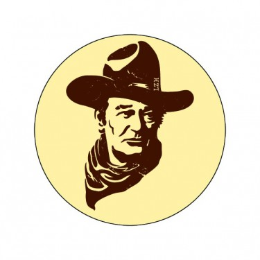 Badge John Wayne 59 mm