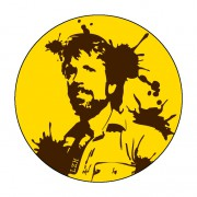 Badge Chuck Norris 59 mm