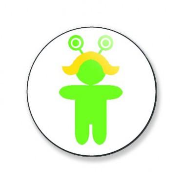 Badge Alien blonde 25 mm
