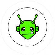 Badge 25mm Alien vert