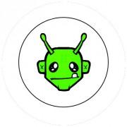 Badge 25mm Alien vert