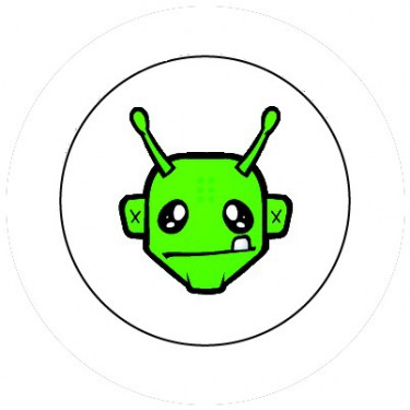 BADGESAGOGO.FR - Badge 25mm Alien vert