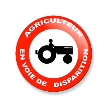 Badge agriculteur 25 mm