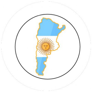 BADGESAGOGO.FR - Badge 25mm ARGENTINE