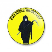Badge faucheuse volontaire 38 mm