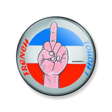 Badge french touch 25 mm