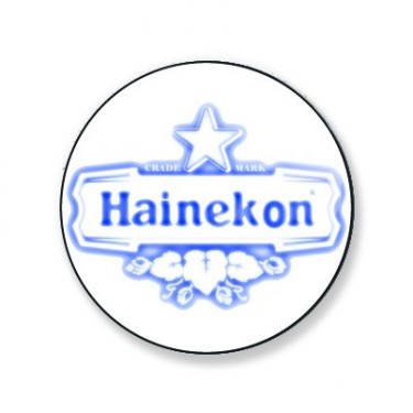 Badge hainekon bleu et blanc 25 mm