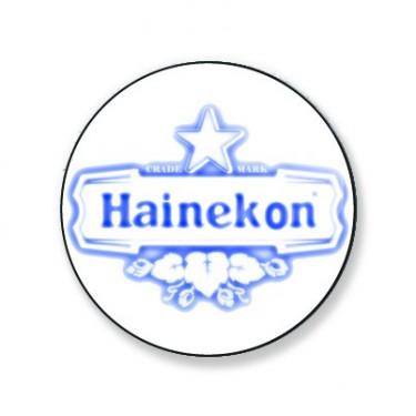 Badge hainekon bleu et blanc 38 mm