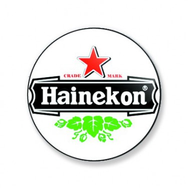 Badge hainekon couleur 38 mm
