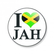 Badge i love jah 25 mm