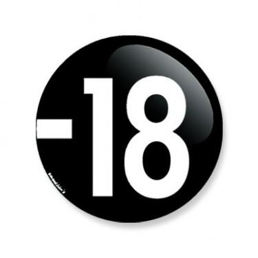 Badge moins 18 38 mm