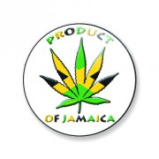 Badge product of jamaica 38 mm