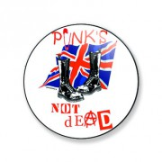 Badge punks not dead 38 mm