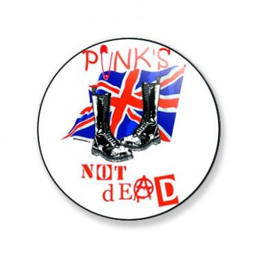 Porte-clés punks not dead 25 mm