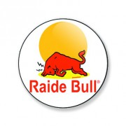 Badge raide bull 25 mm