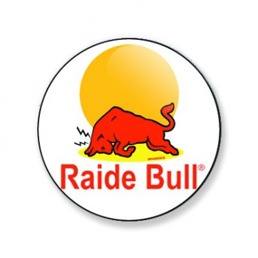 Badge raide bull 38 mm