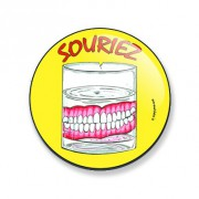 Badge souriez 38 mm