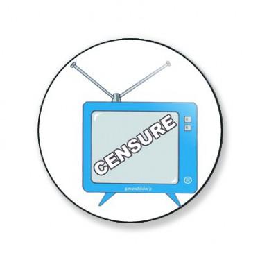 Badge télé censure 38 mm