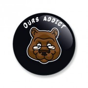 Badge ours addict 25 mm
