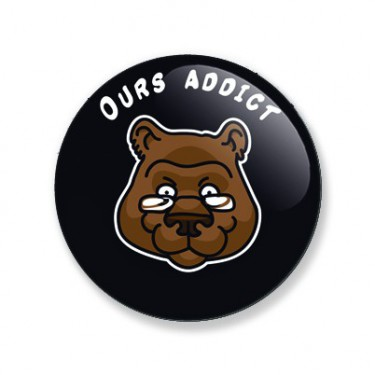 Badge ours addict 59 mm