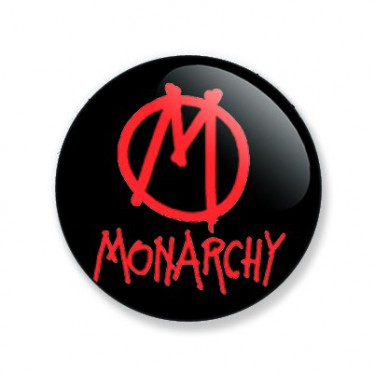 Badge 25mm Monarchy